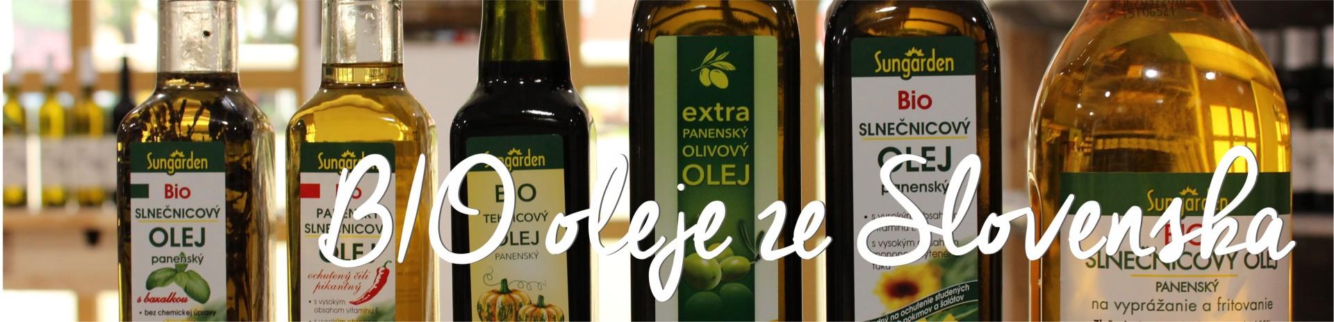 BIO oleje ze Slovenska