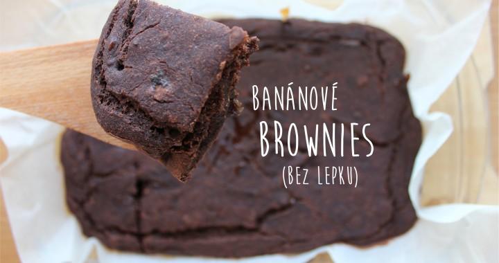 Banánové brownies (bez lepku)