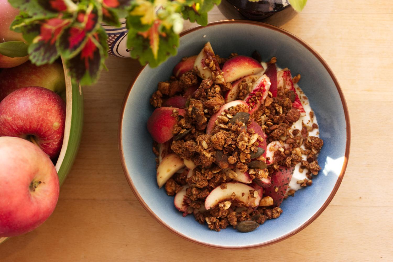 Pečené ořechové müsli